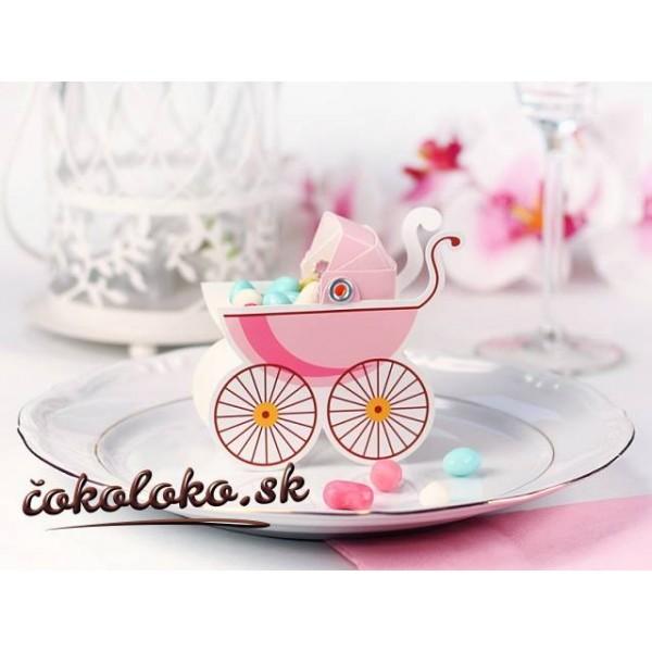 """Krabičky na darčeky """"KOČIARIK"""" - ružové (10 ks)"""