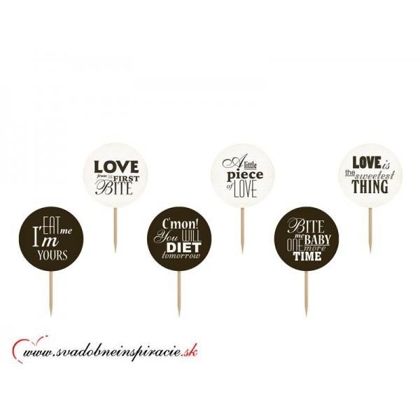 Zapichovacie kartičky - SWEET LOVE (6 ks)