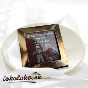 Svadobná čokoládka v kartóniku