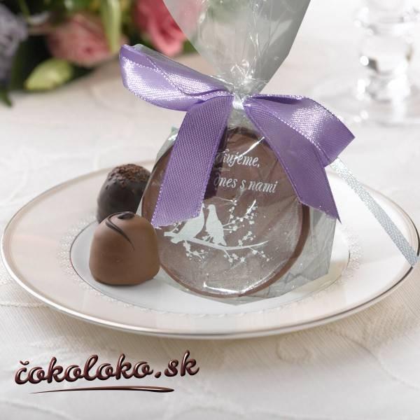 """Svadobná čokoládka """"DUKÁTIK"""""""