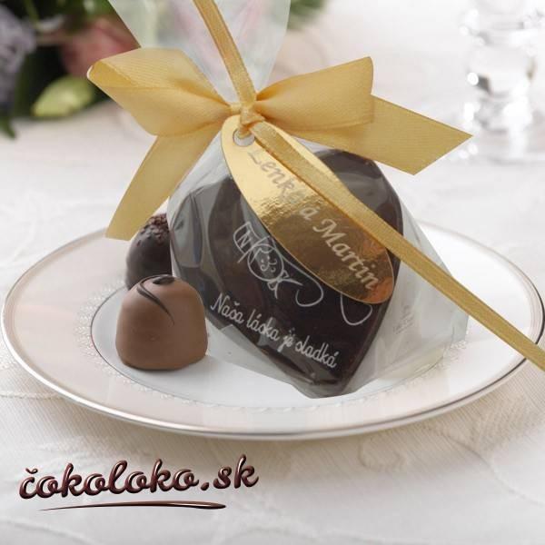 """Svadobná čokoládka """"SRDIEČKO"""""""