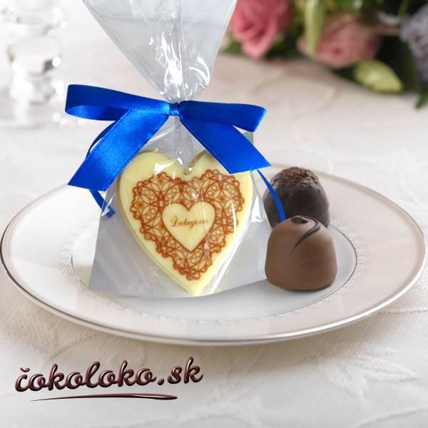 """Svadobné čokoládky """"SRDIEČKO"""""""