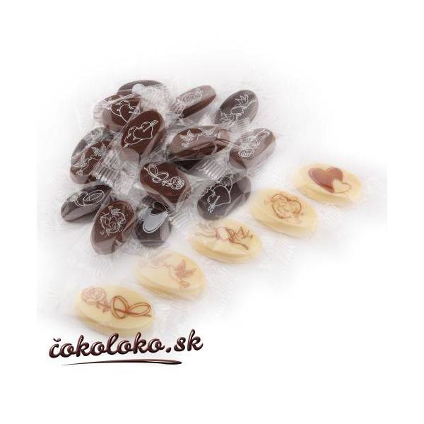 Mini svadobné čokoládky (150 ks)
