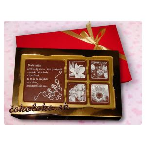 POĎAKOVANIE PRE RODIČOV - Čokoládová bonboniérka