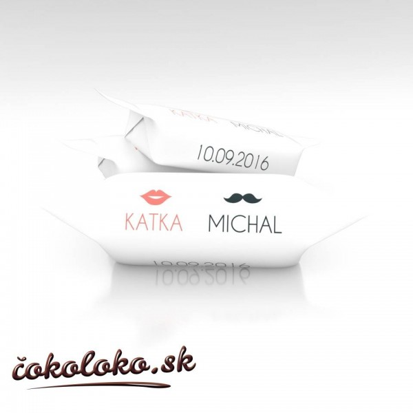 Svadobné krovky personalizované, vzor SV3 (1 kg)