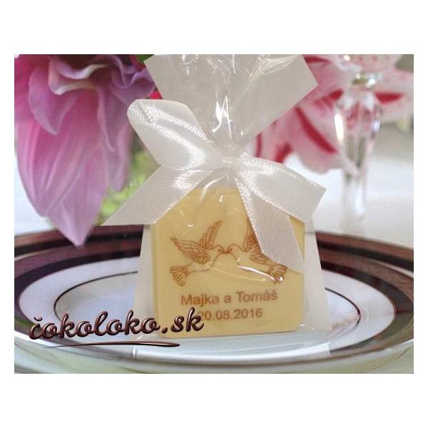 """Svadobné čokoládky s menami """"TABLIČKA"""""""