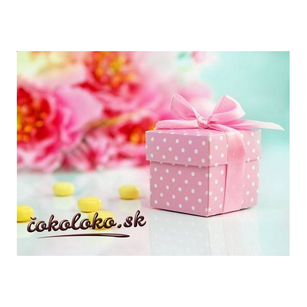 Krabičky na darčeky BODKOVANÉ - Ružové (10 ks)
