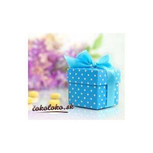 Krabičky na darčeky BODKOVANÉ - Modré (10 ks)