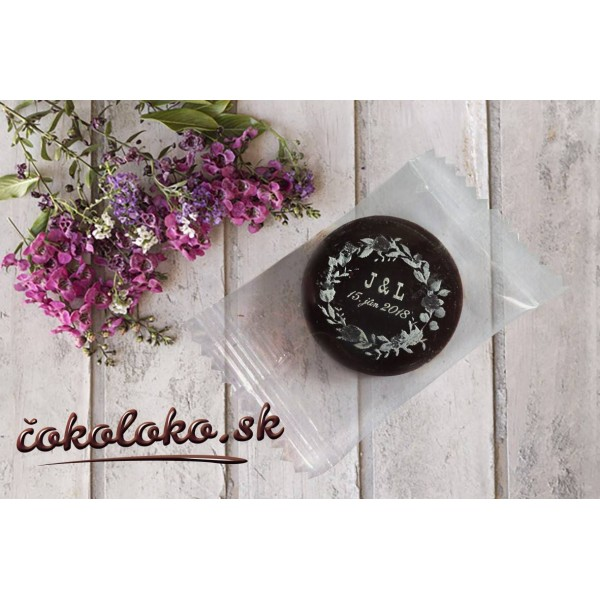 Mini svadobné čokoládky S PERSONALIZÁCIOU (150 ks) (150 ks)