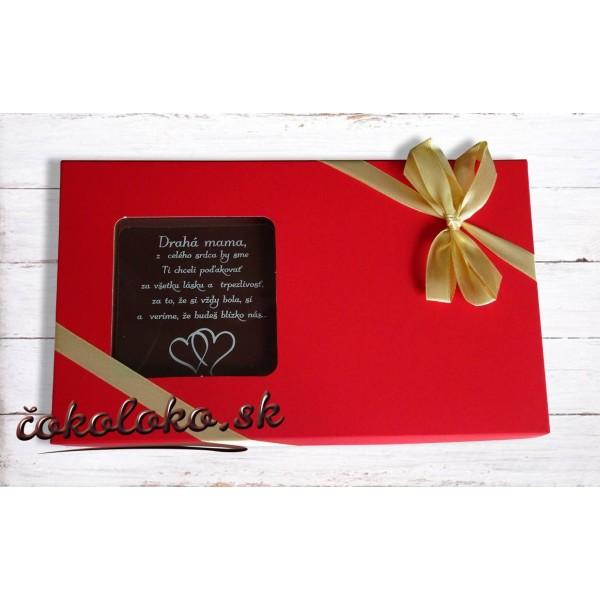POĎAKOVANIE PRE MAMU - Čokoládová bonboniérka