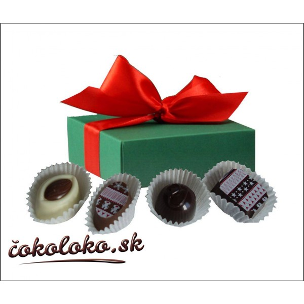 Čokoládová bonboniéra KVARTET s logom