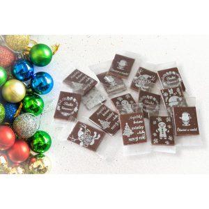 Mini vianočné čokoládky - OBDĹŽNIKOVÉ (50 ks)