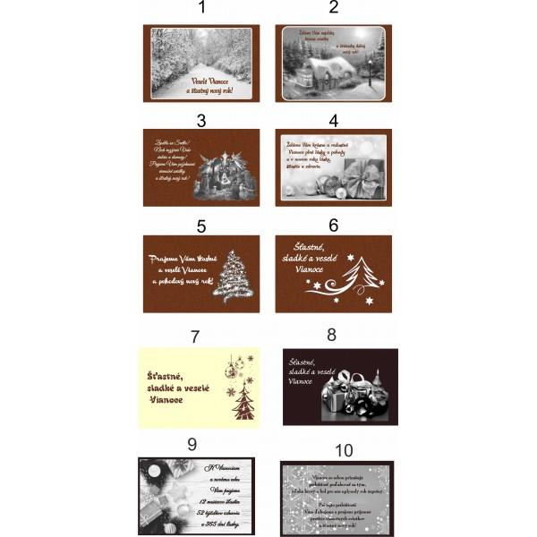 Vianočná čokopohľadnica, VZOR 02
