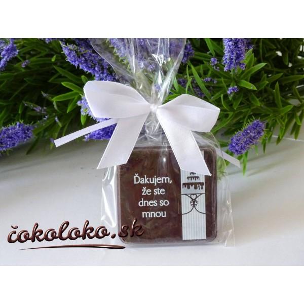 """Čokoládky na oslavu """"TABLIČKA"""""""