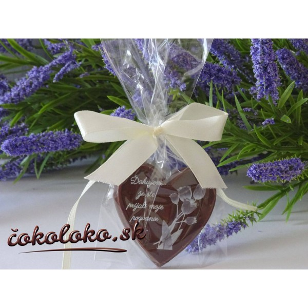 """Čokoládky na oslavu """"SRDIEČKO"""""""