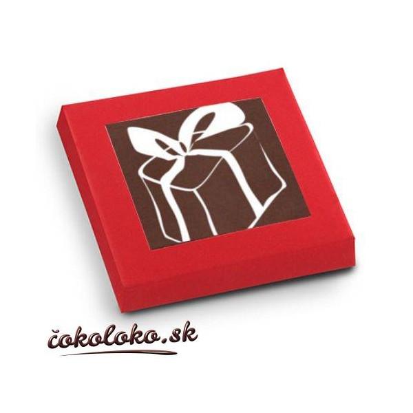 Vianočné čokoládky V ŠKATUĽKE (5x5 cm)