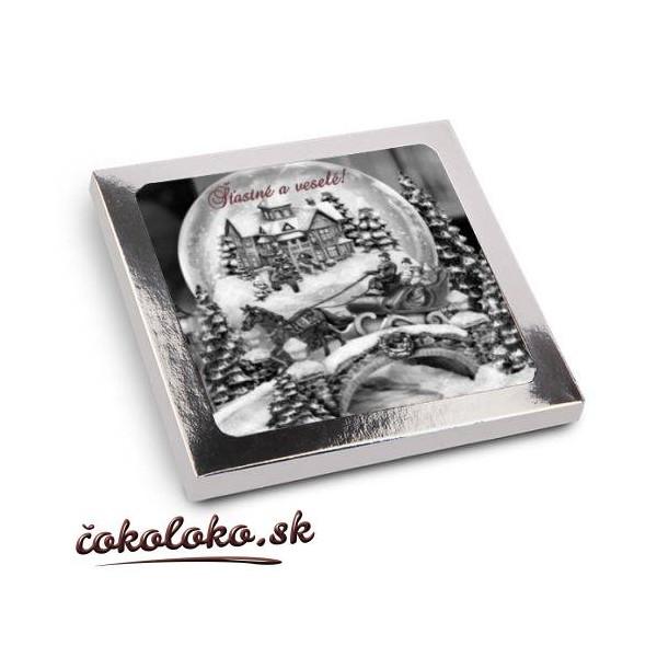 Vianočné čokoládky V ŠKATUĽKE (10x10 cm)