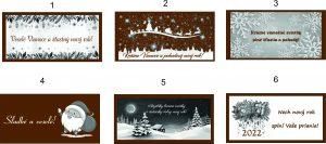 Vianočné čokoládky 5x10 cm