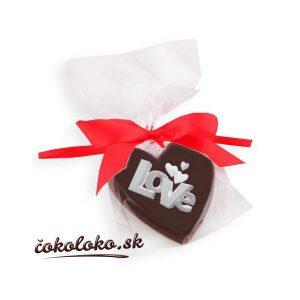 "Valentínske ČOKOLÁDOVÉ SRDIEČKO ""LOVE"""