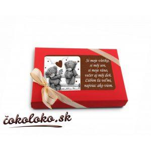 Valentínska ČOKOLÁDOVÁ POHĽADNICA
