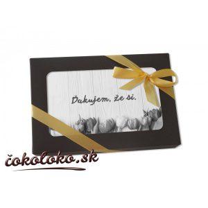 Čokoládová pohľadnica S VLASTNÝM TEXTOM