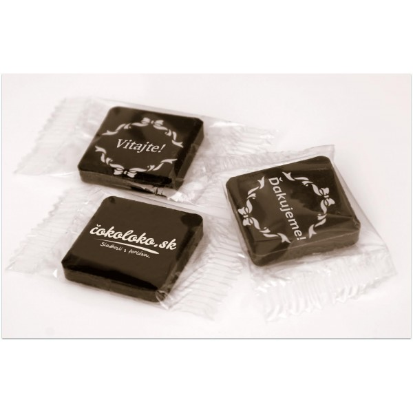 Mini čokoládky S LOGOM - ŠTVORCOVÉ (150 ks)