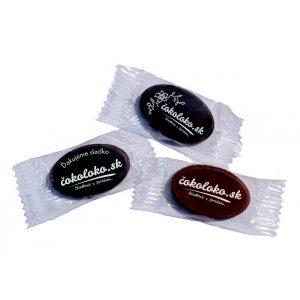 Mini čokoládky S LOGOM - OVÁLNE