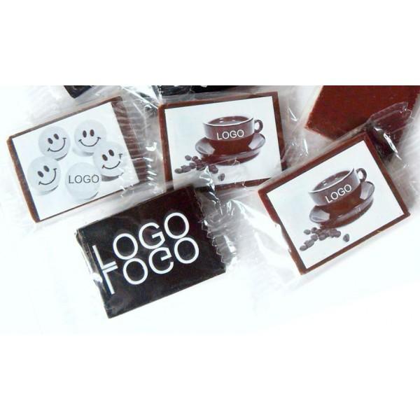 Mini čokoládky S LOGOM - OBDĹŽNIKOVÉ