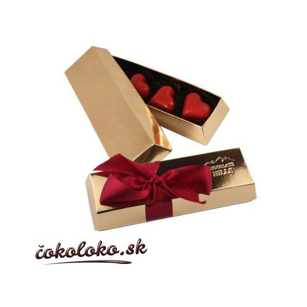 Čokoládová bonboniérka s pralinkami