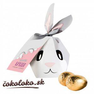Zajačiková bonboniérka s vajíčkami (50 g)