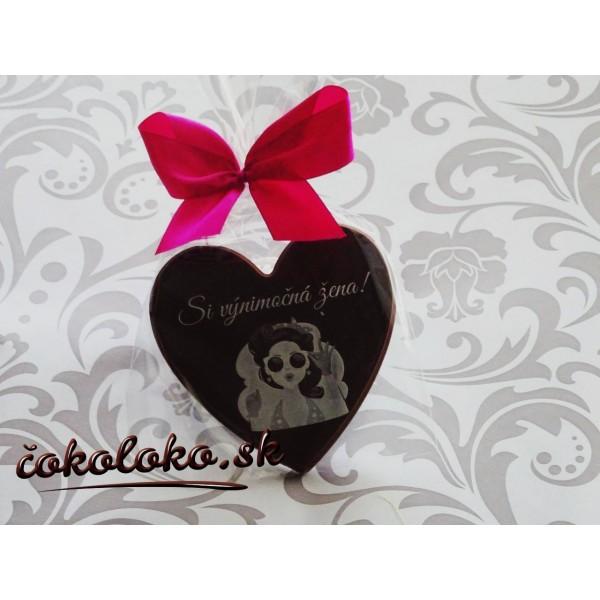 Čokoládové srdiečko pre VÝNIMOČNÚ ŽENU