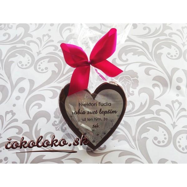 Čokoládové srdiečko pre VÝNIMOČNÉHO ČLOVEKA