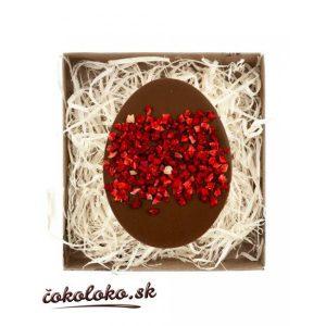 BIO čokoládové vajíčko s jahodami (100 g)