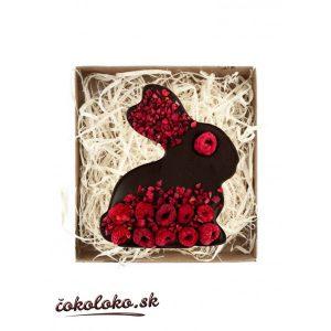 BIO čokoládový zajačik s malinami a chilli (100 g)