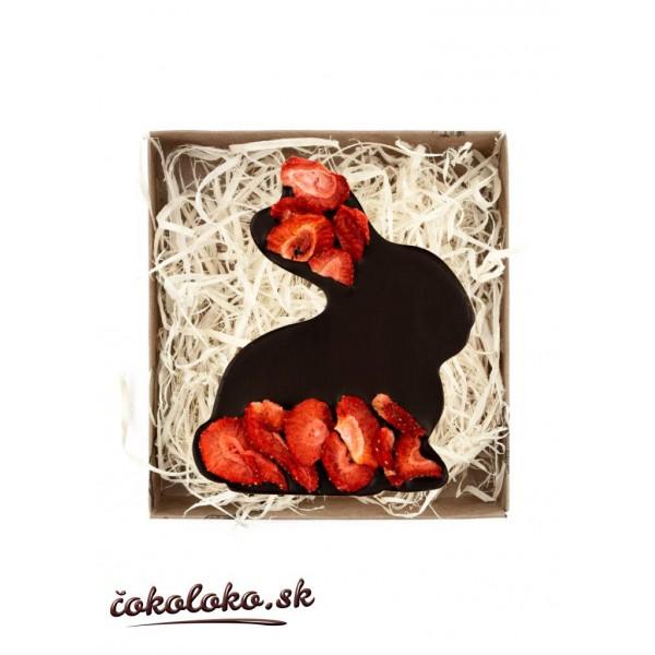 BIO čokoládový zajačik s jahodami (100 g)