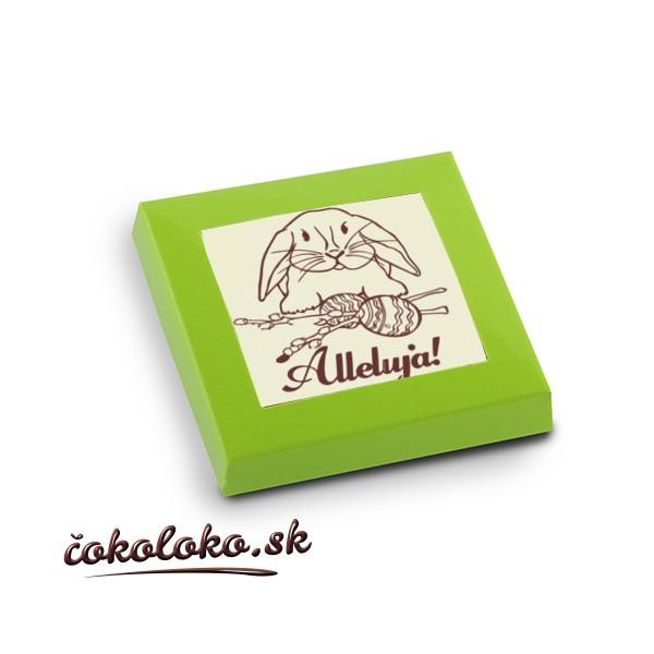 Veľkonočné čokoládky (5x5 cm), vzor 02