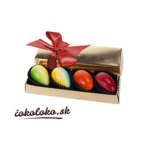 Čokoládová bonboniérka s vajíčkovými pralinkami