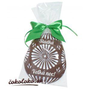 Zdobené čokoládové vajíčko MAXI