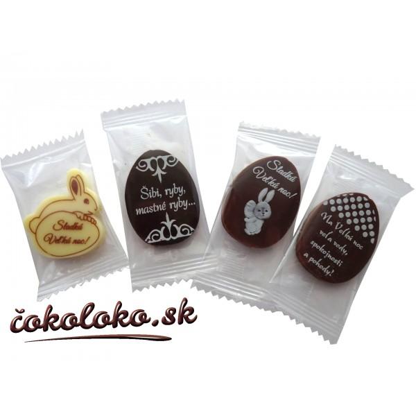 Mini veľkonočné čokoládky (50 ks)