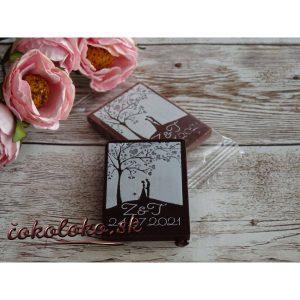 Mini svadobné čokoládky S PERSONALIZÁCIOU (150 ks)