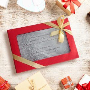 Vianočná čokopohohľadnica, vzor 10