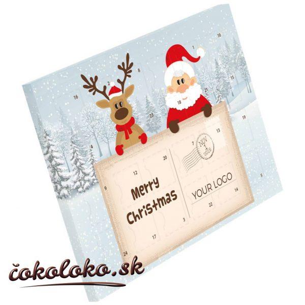 Čokoládový adventný kalendár XS