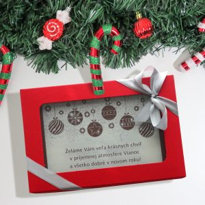 Vianočná čokopohľadnica, vzor 06