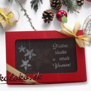 Vianočná čokopohľadnica, vzor 08