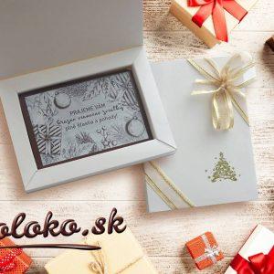 Vianočné ČOKOPRIANIE, biele