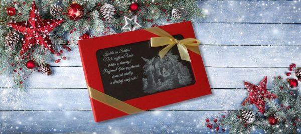 Vianočná čokopohohľadnica, vzor 03