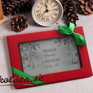 Vianočná čokopohľadnica, vzor 01
