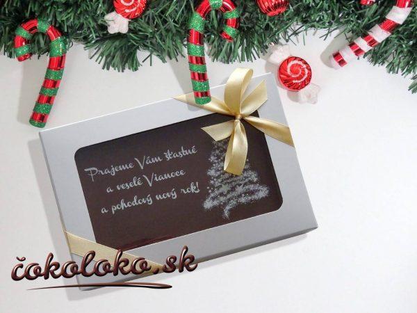 Vianočná čokopohohľadnica, vzor 05
