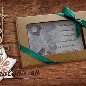 Firemná vianočná čokopohľadnica, vzor 09